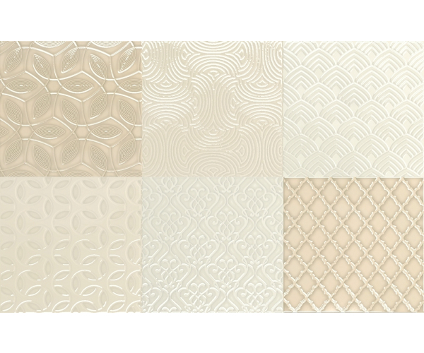 Aleluia Ceramicas Aline Decor Mix Bijou Sand 26,7x41,6