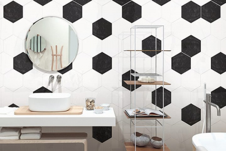 Decocer Hex Devon Super White - šestihran 17,5x20,2
