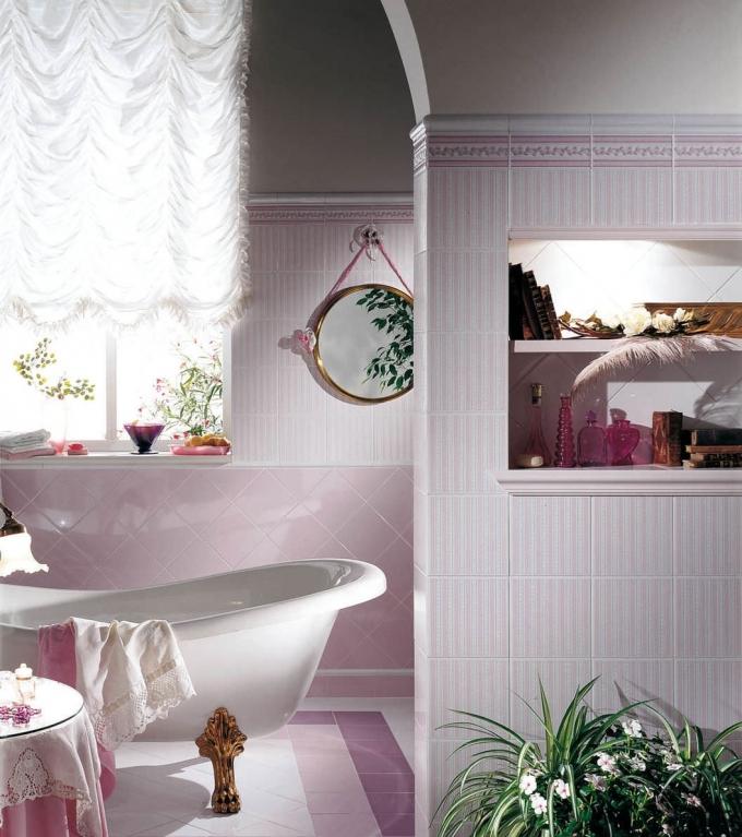 series Retro koupelna Brennero  Ricordi Country Rosa & Navy