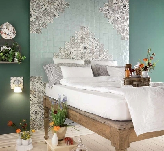 series Obklady 10x10 bílé keramické Marca Corona Jolie Floral Design