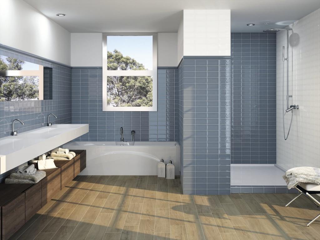 series Šedý maloformátový obklad do koupelny Ape Piemonte Cedar