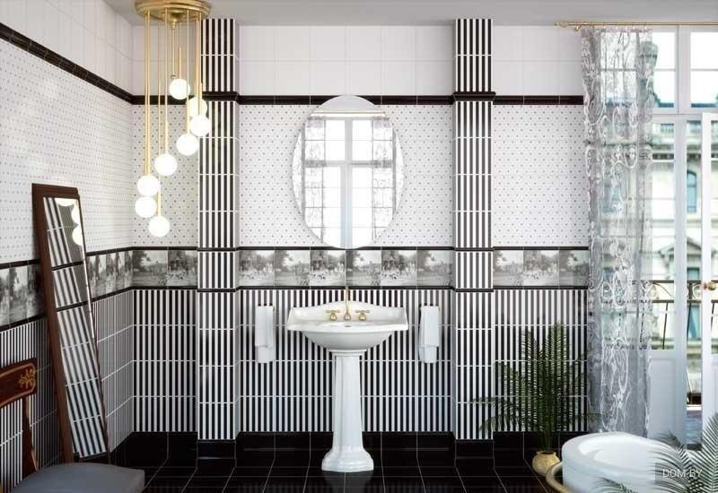 series Obklady a dlažba do koupelny v barokním stylu Apegrupo Lord