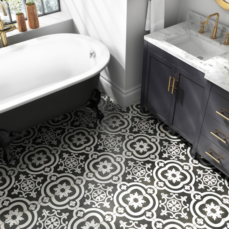 series Dlažba vhodná do koupelny i obýváku Cementina Black and White (Del Conca Faetano) levně