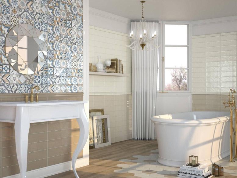 series Decocer Bulevar 10x30,5 dekor Warm a barvy Ivory a Vison levně