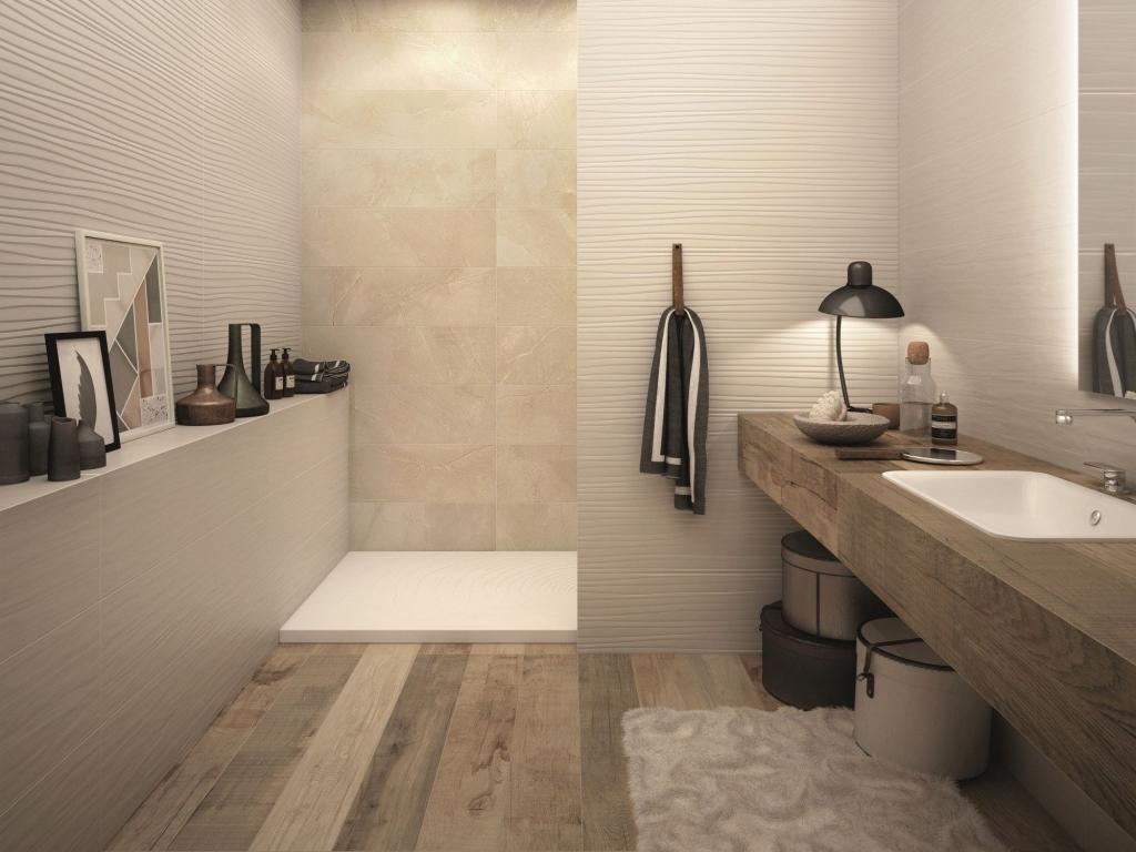 series Obklady do panelákové koupelny ukázky ABK Sensi Sahara Cream Sablè & Touch Feel Ivory