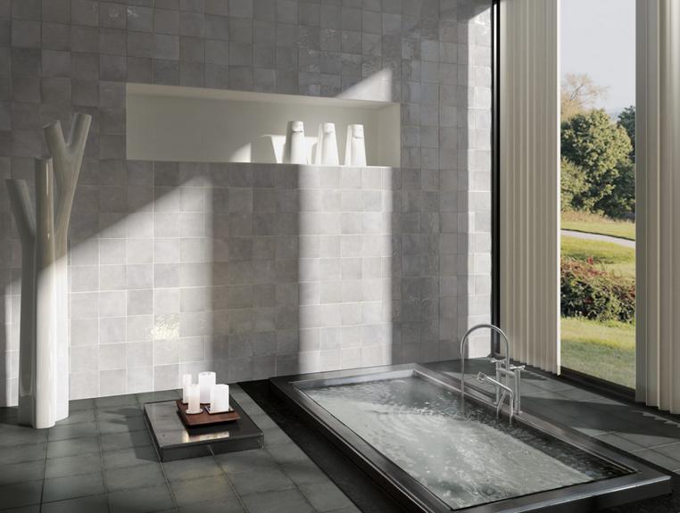 series Moderní šedé obklady do koupelny s vysokým leskem Equipe Artisan
