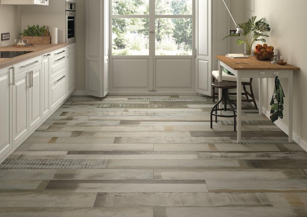 series Dlažba do kuchyně v imitaci dřeva od výrobce Ape April