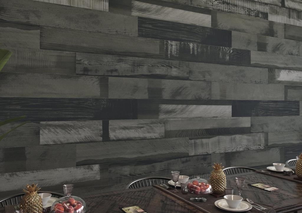 series Tmavý interiérový obklad v imitaci dřeva od výrobce Ape April