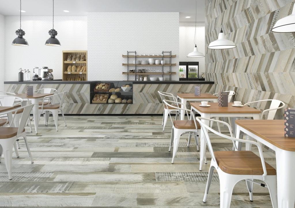 series Přírodní dlažba se strukturou dřeva do kavárny od výrobce Ape April