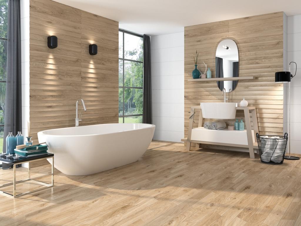 series Koupelnový obklad s imitací dřeva od výrobce Ape All White