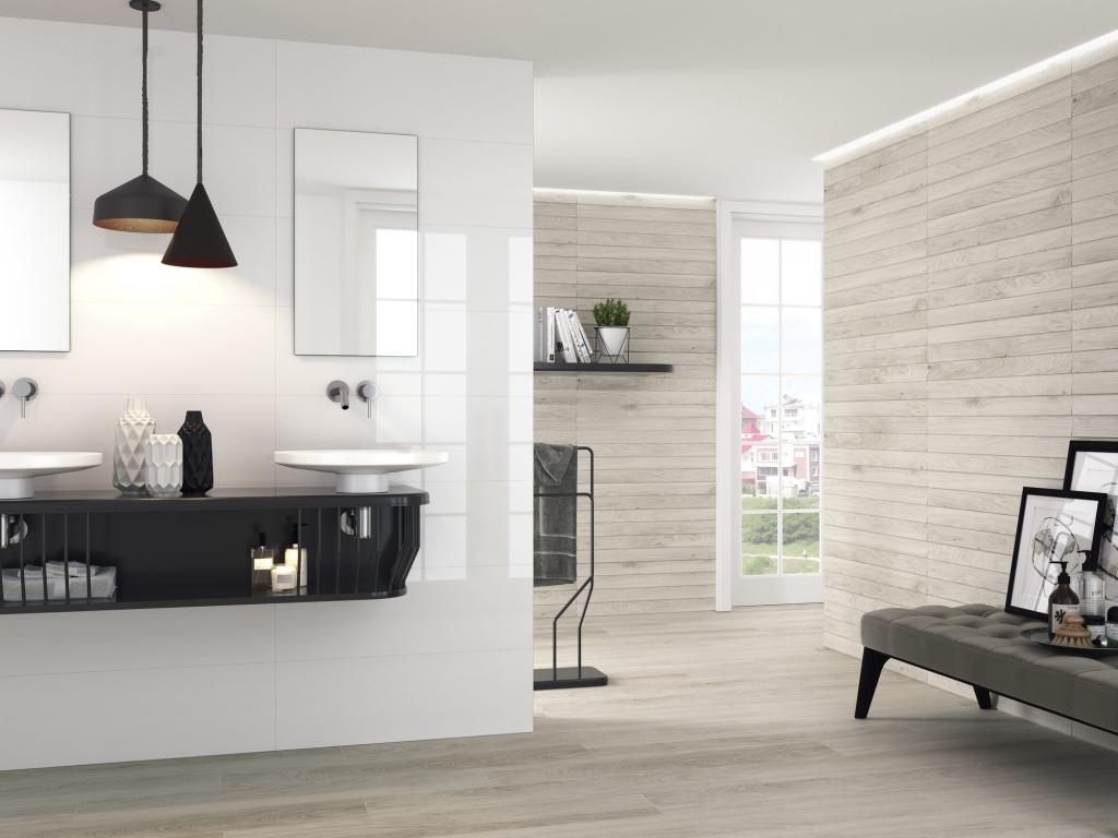 series Bílý superlesklý obklad do koupelny od výrobce Ape All White