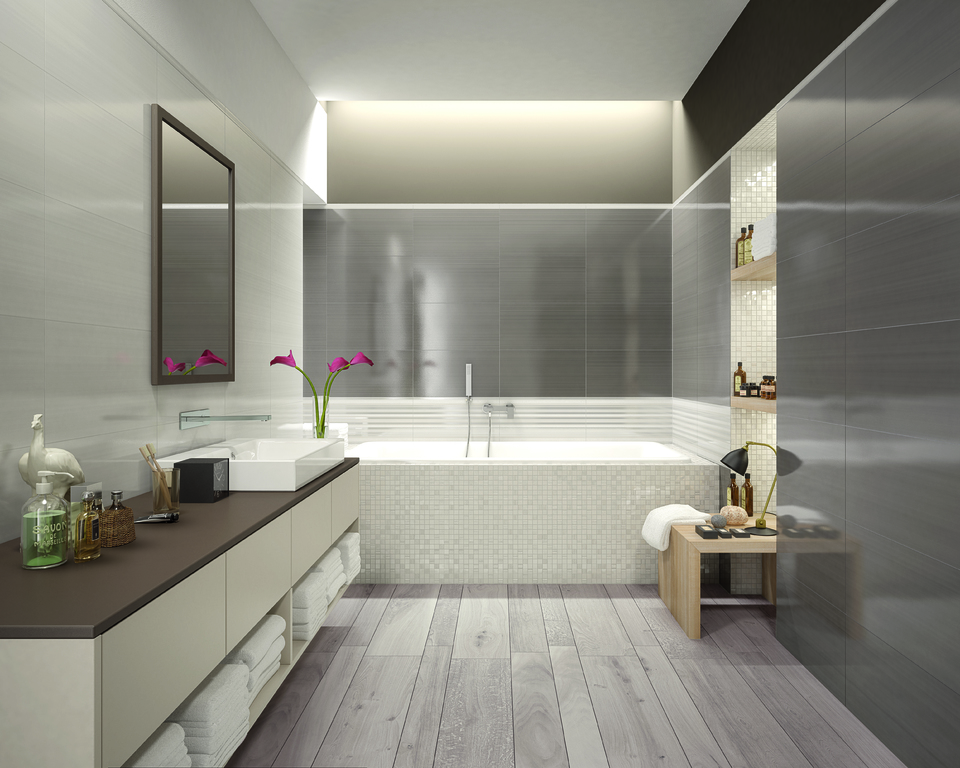 series Dřevo na podlaze v koupelně Marca Corona Desire Nut & Grey