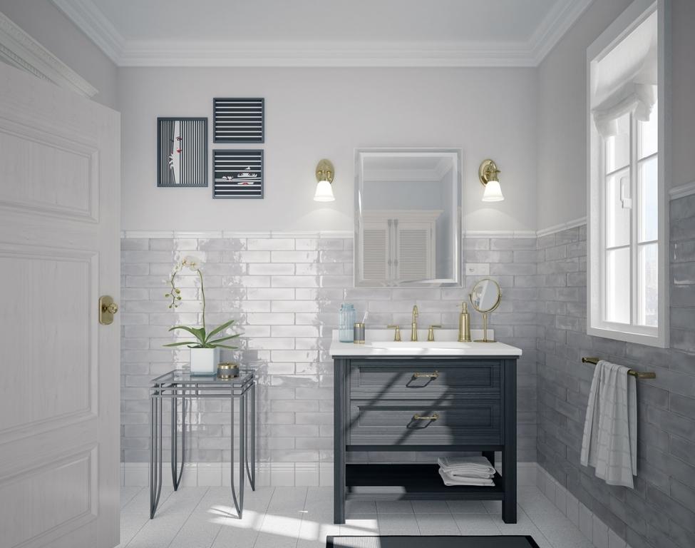 series Šedo-bílá koupelna Equipe Splendours v nepřehlédnutelném stylu