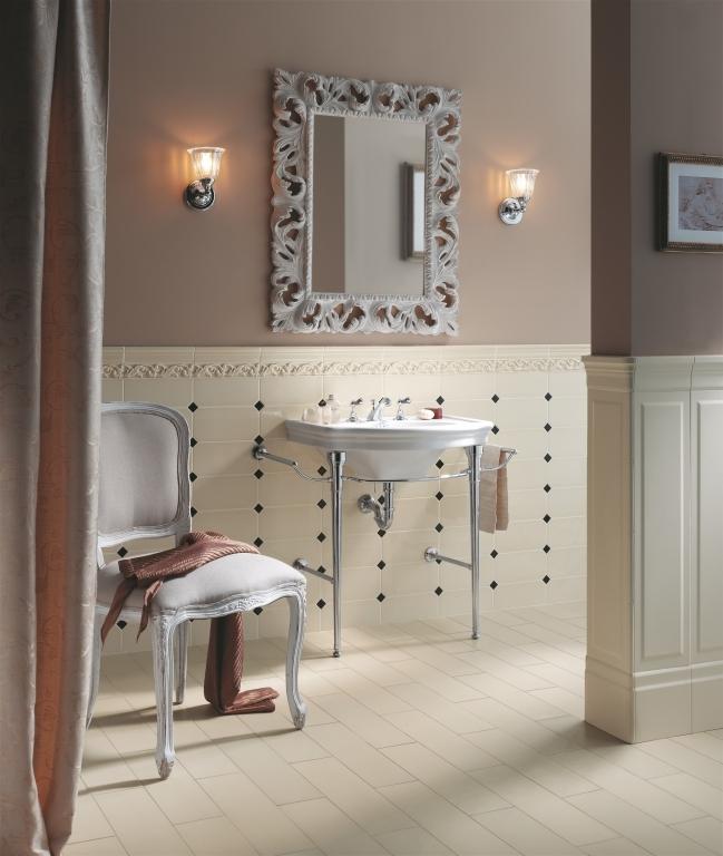 series Romantický obklad do koupelny Ceramiche Grazia New Classic