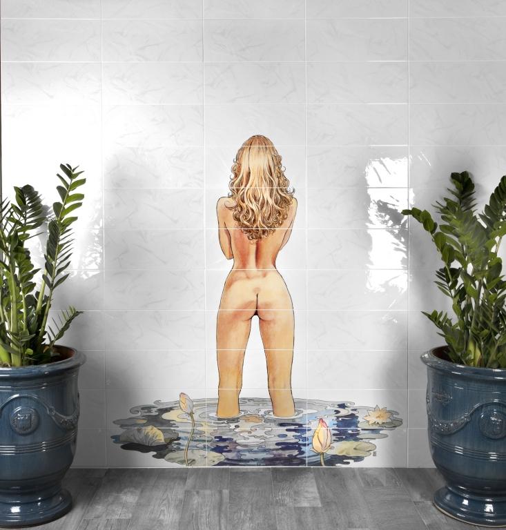 series Žena v koupelně Del Conca BG Bellagio Milo Manara