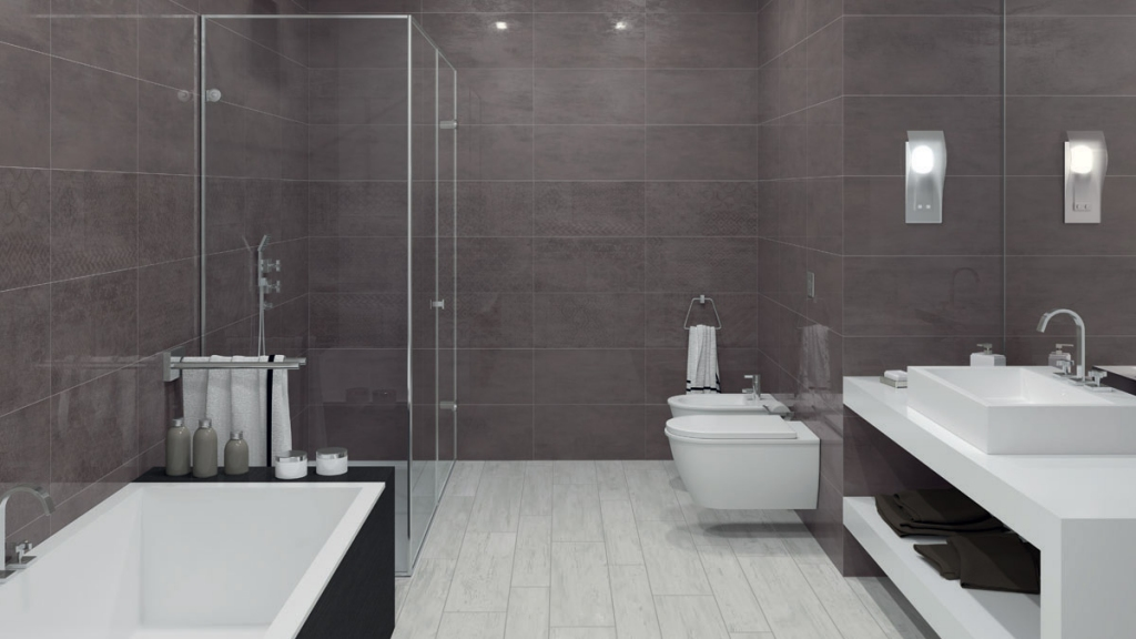 Aleluia Ceramicas Board Decor Patchboard Dark Grey 30x60 Šedá, Hnědá R881