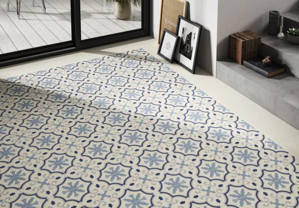 Codicer Riviera Montecarlo Blue 25x25 Modrá, Šedá, Bílá 7448