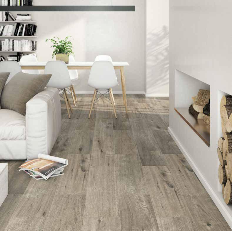 series Ecoceramic Woodland Taupe 25x100 - cenově výhodná imitace dřeva
