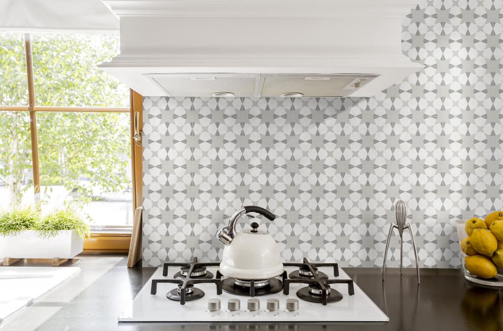 series Patchworková dlažba 20x20 s jemnou kresbou vhodná do koupelny i kuchyně Avalon (Del Conca Faetano)