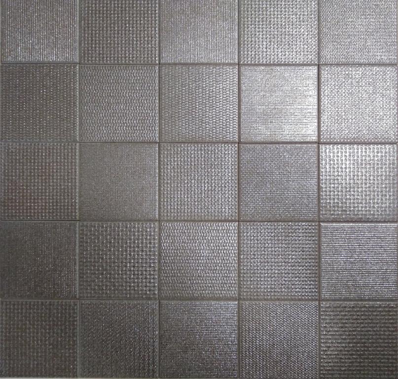 series Deceram Struttura Titanio 10x10 - dlažba se vzory v kovovém designu