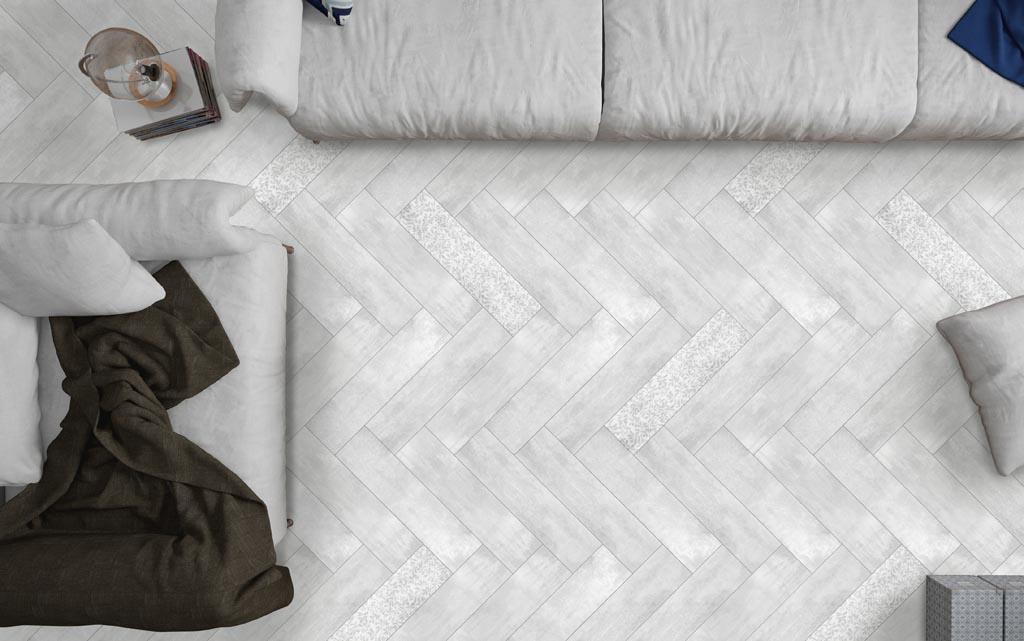 La Fenice Shabby Wood Bianco 15x60  Šedá světlá 15KI027