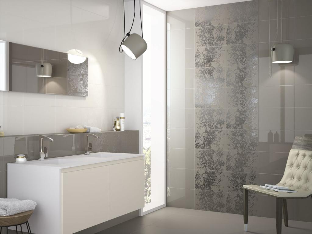 series Hnědé koupelnové obklady s dekorem Ape Duma