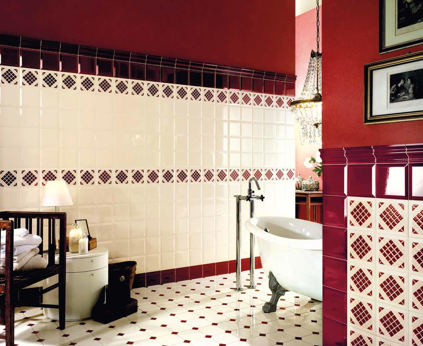 series Koupelnové obklady a dlažby Tonalite  Diamante Champagne & Bordeaux