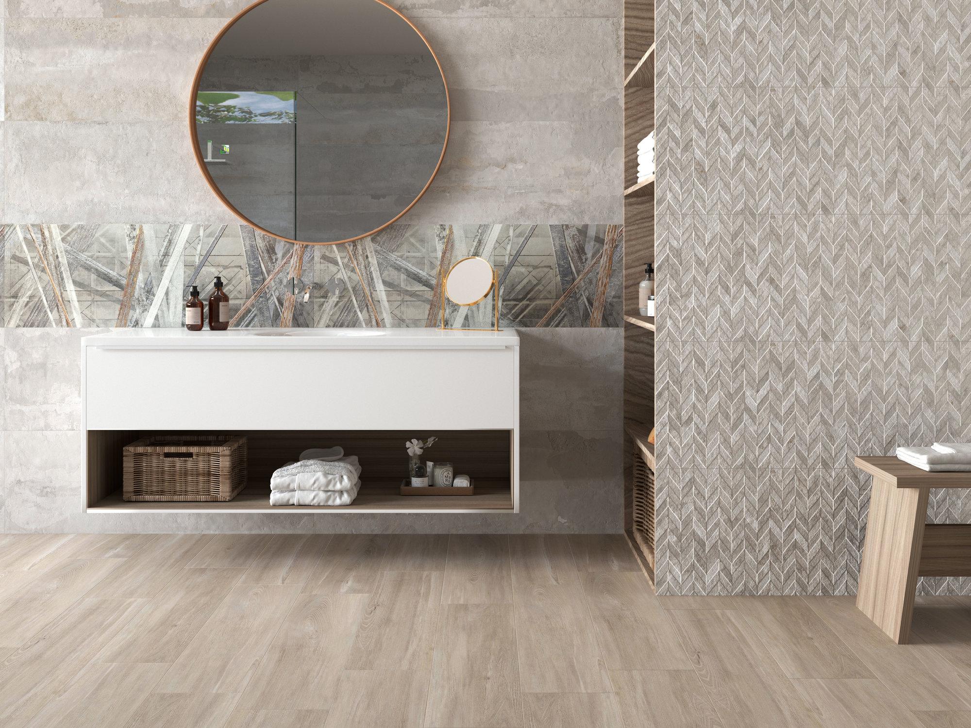 series Koupelnové obklady se vzhledem betonu Ape Leeds