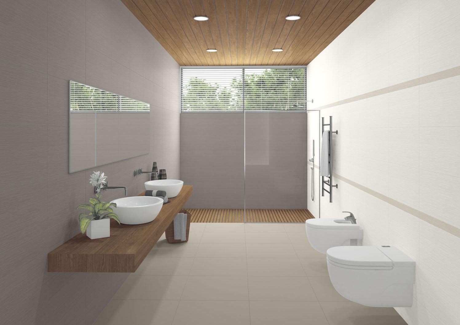 series Moderní koupelna Aleluia Ceramicas Dune White & Greige