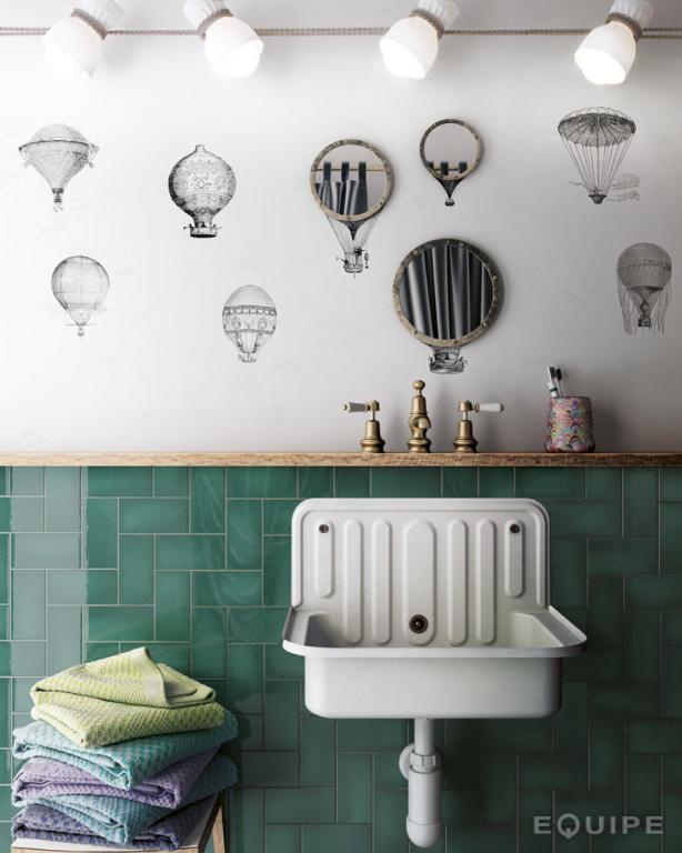 series Koupelnové obklady ve stylu vintage Equipe Crackle
