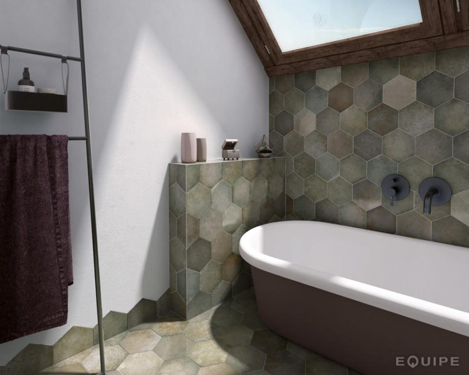 series Koupelnové obklady a dlažba jako kámen Equipe Heritage