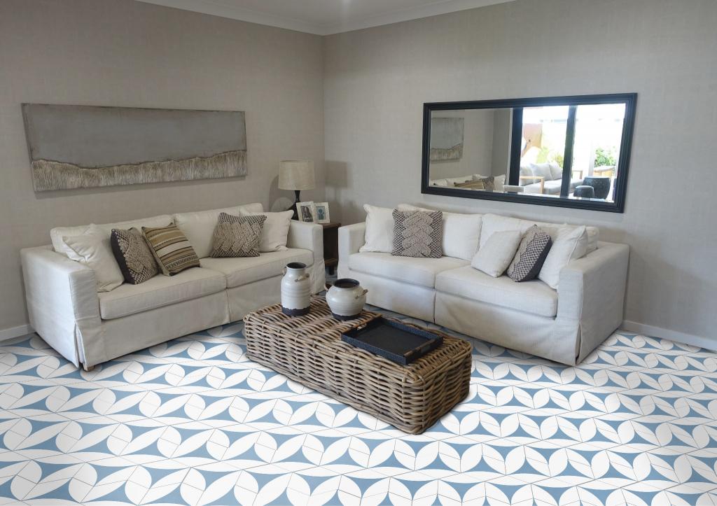series Zvláštní, cool look Vašeho obýváku zajistí Codicer Hex Porto Venere Blue