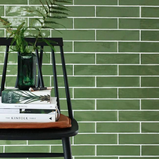 series Zelený obklad Deceram Devon Olive (Poitiers)