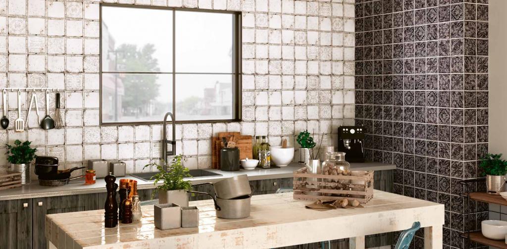 series Matné rustikální obklady El Barco Dorian 15x15 v kuchyni
