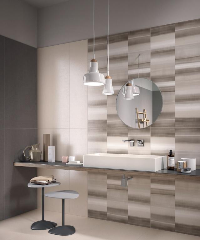 series Zajímavý obklad do koupelny v neutrálních tónech od výrobce Ariana Ceramica Canvas