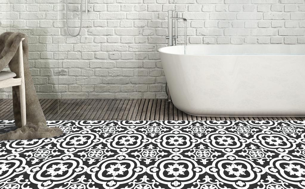 series Dlažba s RETRO vzory Cementina Black and White (Del Conca Faetano)