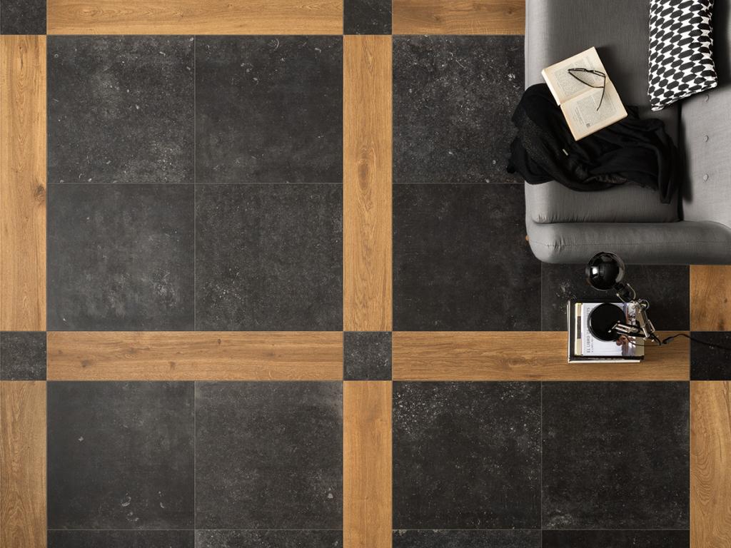 EdimaxAstor Belgica 60,4x60,4 Rett. Černá 337VZ6