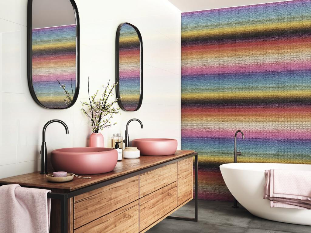 series Vesele barevný obklad do KOUPELNY APE Chromatic Silk