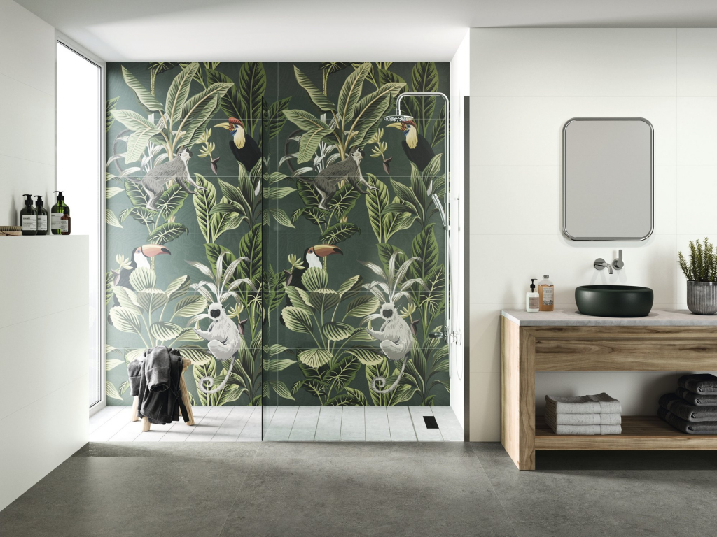 series Exotická příroda na obkladu od výrobce APE Chromatic Silk