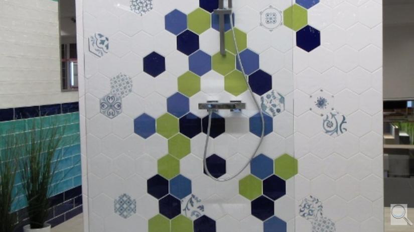 series Obklady do koupelny Hexagon Tonalite Exabright