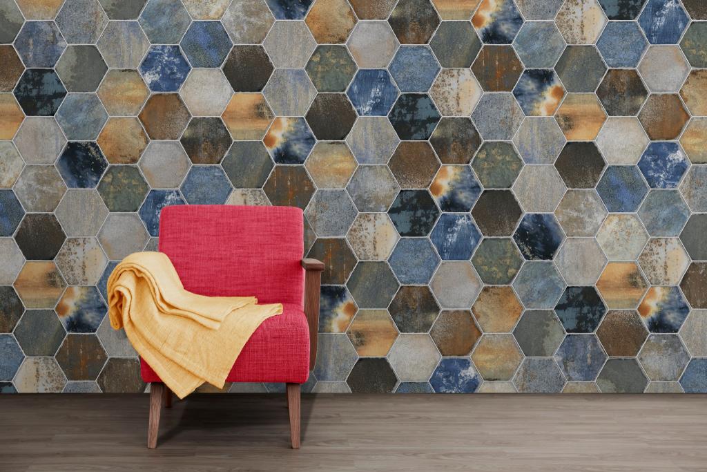 series Provenzal mix barev Codicer Dorne 22x25 hexagon