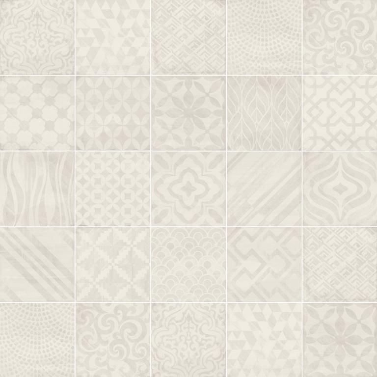 Aleluia Ceramicas Heritage Decor Henna Grey 20x20 (mix dekorů) Krémová, Šedá světlá MH54(A)