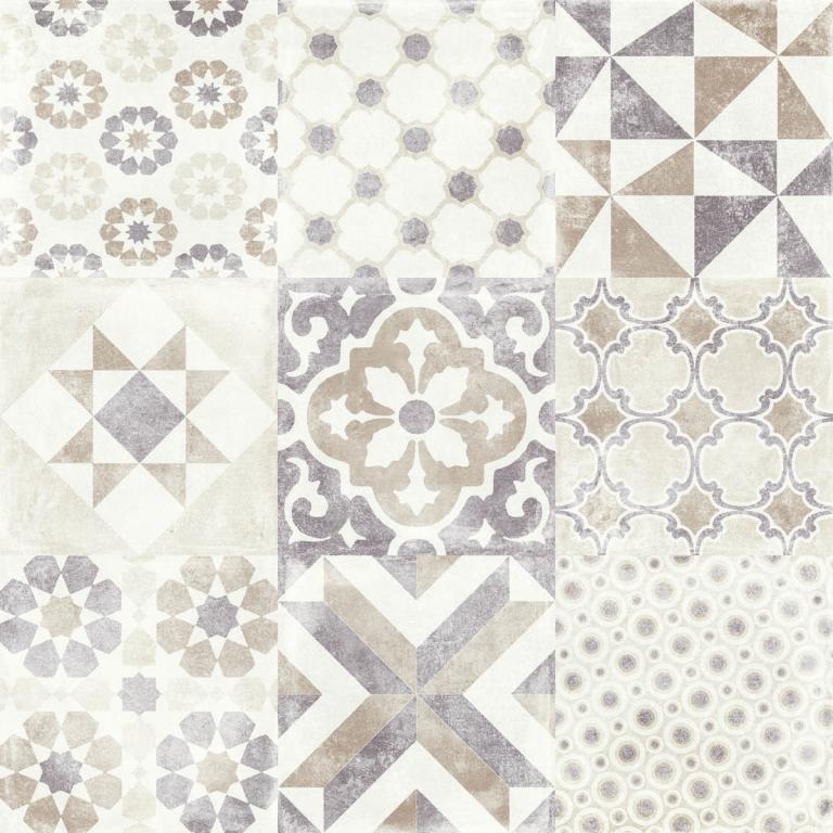 Aleluia Ceramicas Valle Decor Hidravalle Beige 60x60 Béžová, Multicolor, Šedá světlá P6044