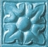 Grazia Amarcord Tozzetto Igea Dark Pavone Matt. 3x3 Modrá, Tyrkysová TIGE99