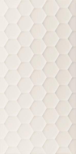 Obklad Marca Corona 4D Hexagon White Matt 40x80 Bílá D729