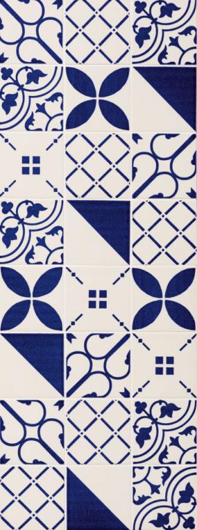 "Obklad Marca Corona Maiolica Decori Mix10 10x10 cm - 4""x4"" Modrá, Bílá E628/E847"