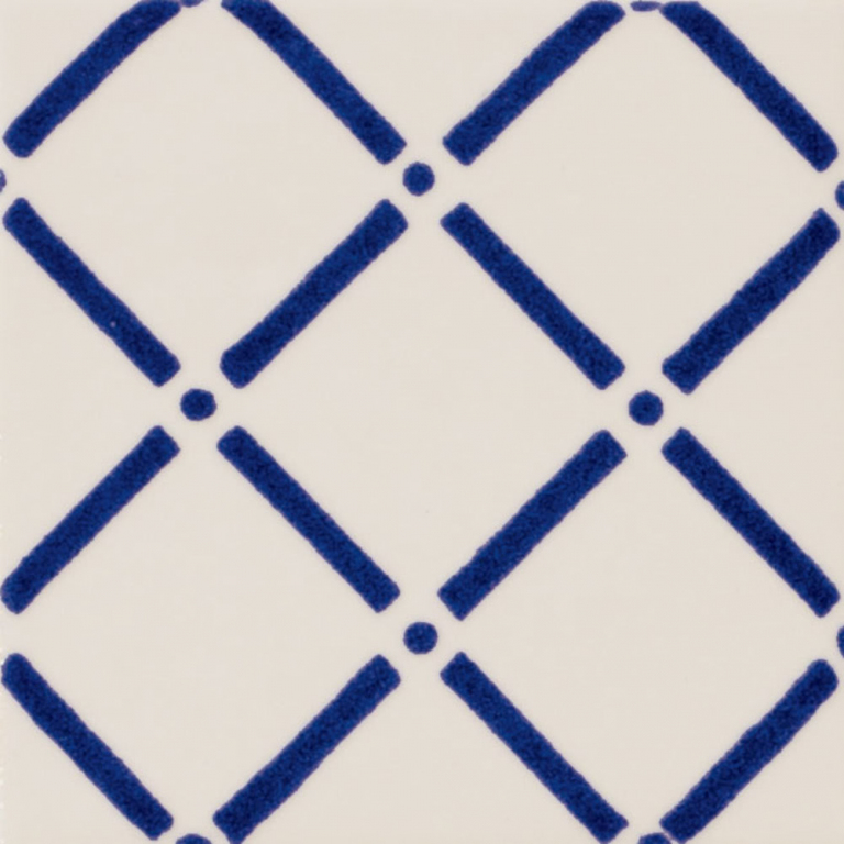 "Obklad Marca Corona Maiolica Trama10 10x10 cm - 4""x4"" Modrá, Bílá E626/E845"