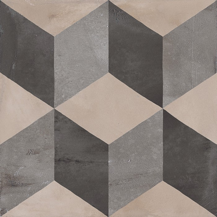Marca Corona Terra Cubo vers. F 20x20 cm  Černá, Šedá, Antracitová 0370