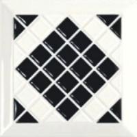 Tonalite Diamante Decoro Kyoto Nero 15x15 Černá D/KYO.NE
