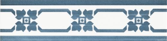 Grazia Listello Cottage Navy 5x20 Modrá, Bílá COTL6